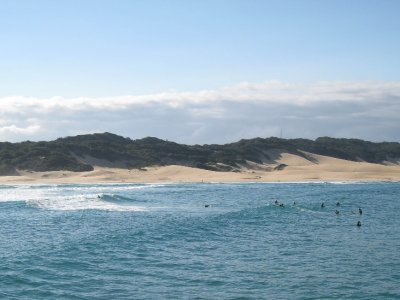 Port Alfred is a beach community with crazy sand dunes.