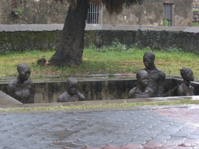 Stone Town was the center of the slave trade in the 1800s. This is a monument so locals never forget.