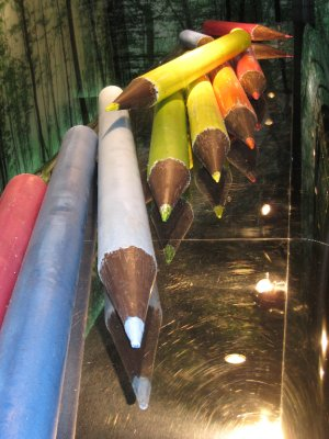 Chocolate crayons bigger than our budget : - )