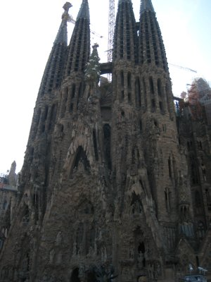 Gaudi's masterpiece Sagrada Familia. Construction started in 1883 and is expected to be finished in 2026. The construction has been interrupted by war and money woes, ultimately being passed on to various famous architects. The size and detail of the church is magnificent.