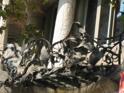 Interesting railing on Gaudi's Casa Milà.