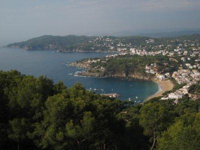 View of Llafranc, Catalunya, Spain, from San Sebastian.