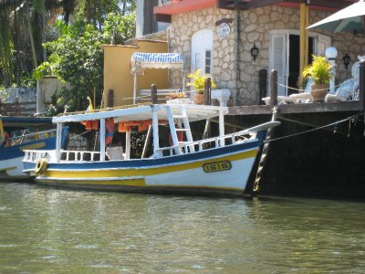Paraty boat on canal