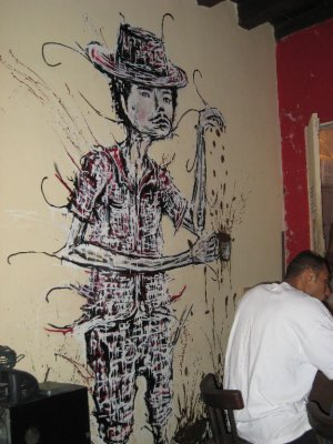 Salvador, cafe artwork