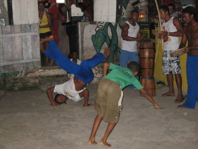 Kids of all ages do capoeira. We saw people between two years and fifty years old perform! The square in the town center is full every night with kids doing capoeira.