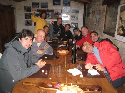 Our group at dinner the night of the summit. Even though we didn't understand everything they were saying, they made the experience enjoyable. We made them all a bit jealous with our 14 month trip. Extended travel is even more unheard of for Argentinians than Americans.