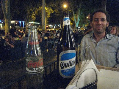 At night, Mendoza is hopping with bar-lined streets. We tried our best to go out to dance, but with the start time of 1 a.m., us old farts were in bed. We were awake enough to grab a drink beforehand on Av. Aristides Villanueva