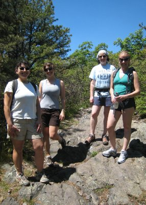 In May, the college gals got together for a hike at Blue Hills.