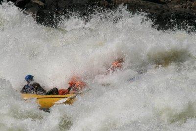 Zambizi river rafting rapids