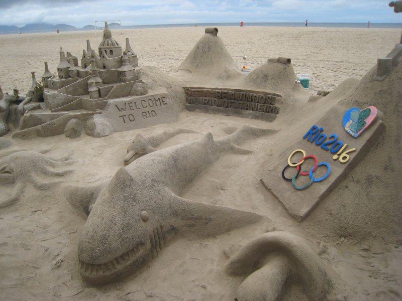 Copacabana sand castle