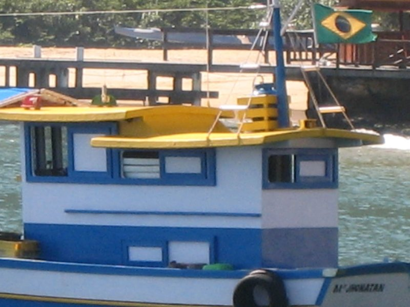 Ilha Grande small boat with flag