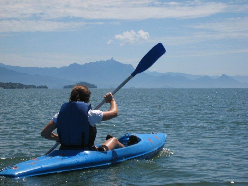 Eliz kayaking in Paraty