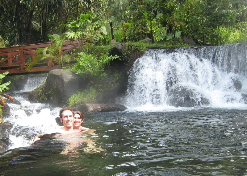 Dave and Eliz at Tabacon Hot Springs
