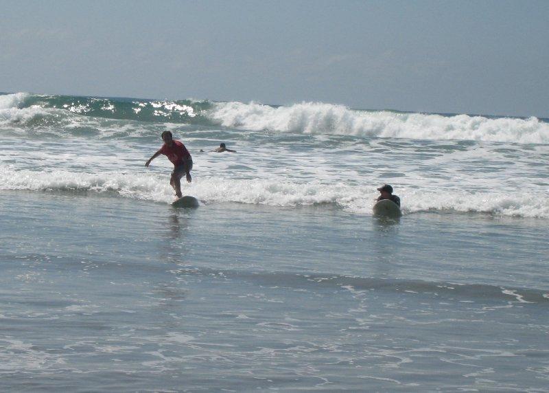 Dave surfing Santa Teresa