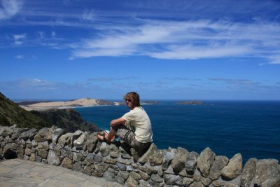 Relaxing at Cape Reinga