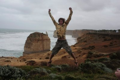 Star jumps at the 12 Apostles