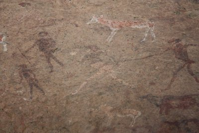 White Lady rock painting at Brandberg