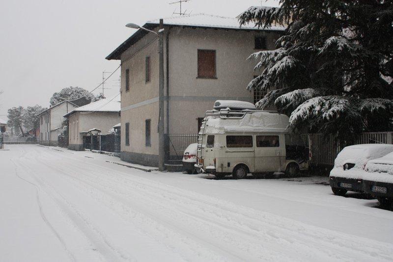 Parking place last night in Milan
