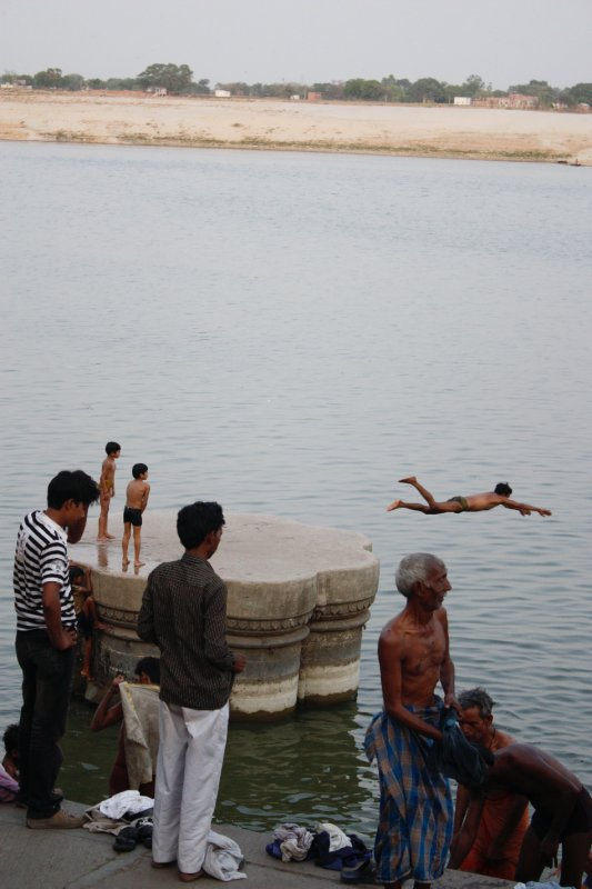 People Swimming Ghats