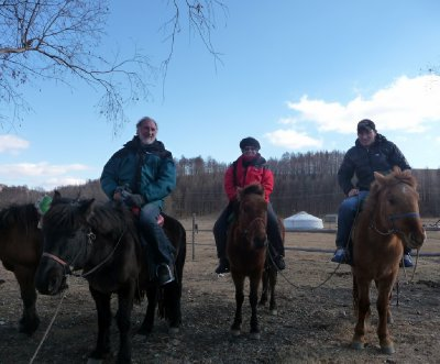 Horse riding in the Gobi