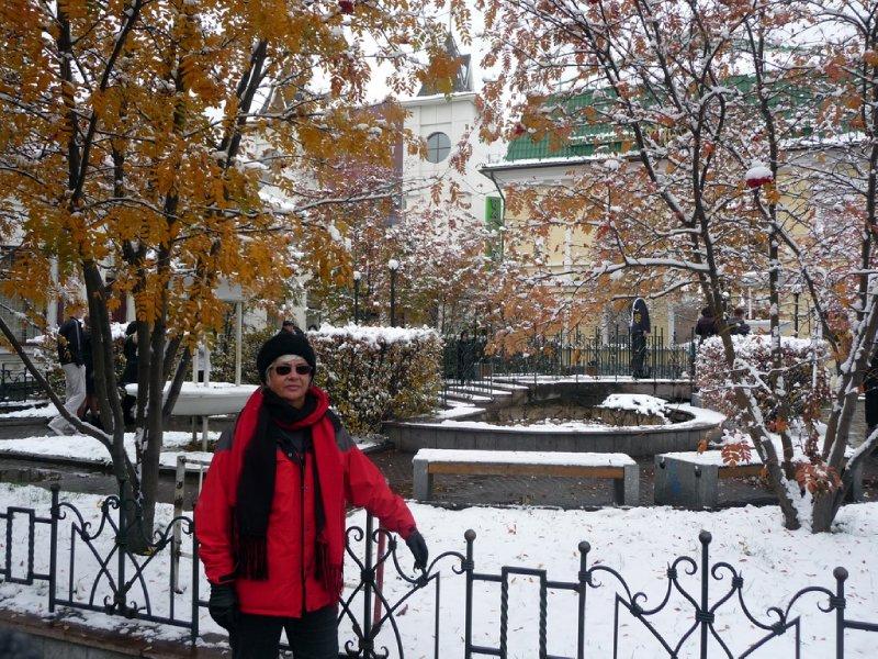 First Siberian snow
