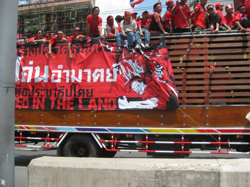 Red-shirt protesters