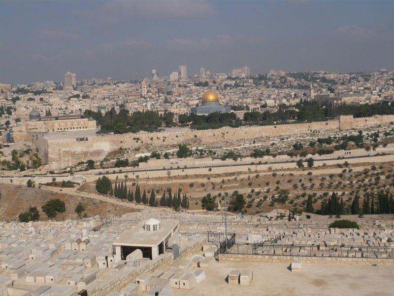 Dome of the Rock, view from Mount Olive