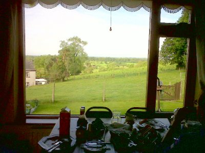 The view from the breakfast room.