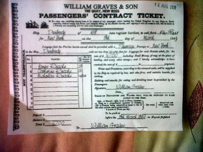 All passengers were issued a ticket, before we boarded for a fascinating look at what they endured on the long journey.
