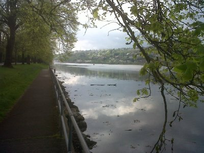 The house overlooks the river Lee, with long walks along the banks.