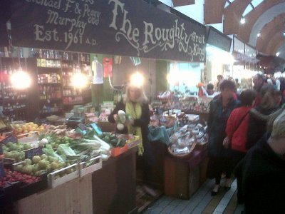 The well-known colourful English Market in the city.