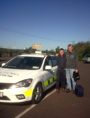 David did 2 weeks night shift in the Southdoc car. Here he is with one of the 3 Pats who serve as drivers and/or receptionists for the afterhours centre.