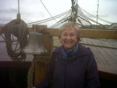 The original ship's bell rescued from the original ship.