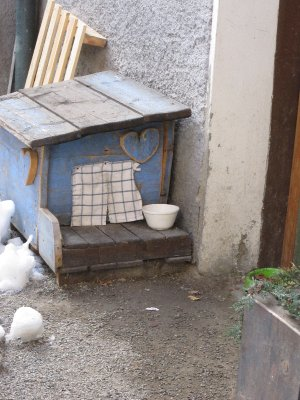 A doggy kennel for a poorer dog