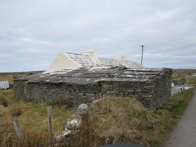 This old farm cottage near the Cliffs of Moher is made entirely of stone - even the roof