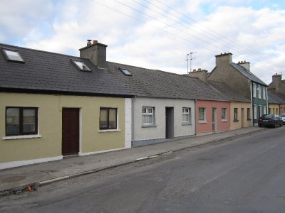A terrace of cottages in Miltown Malbay