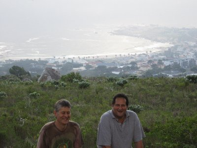 David and Ian with Camp's Bay in the background