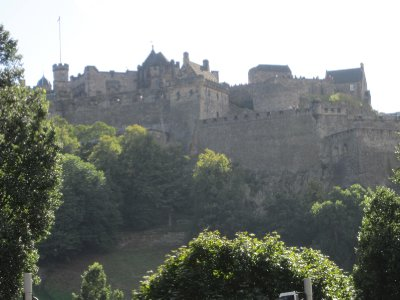 Looking up towards the castle from Prince's Street.