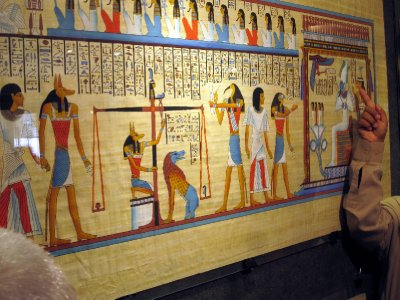 Some examples of beautiful papyrus paintings.