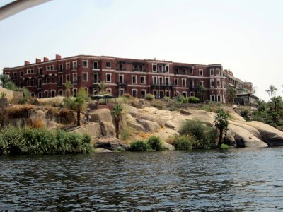 The famous Old Cataract Hotel, where Agatha Christie's Murder on the Nile was set.