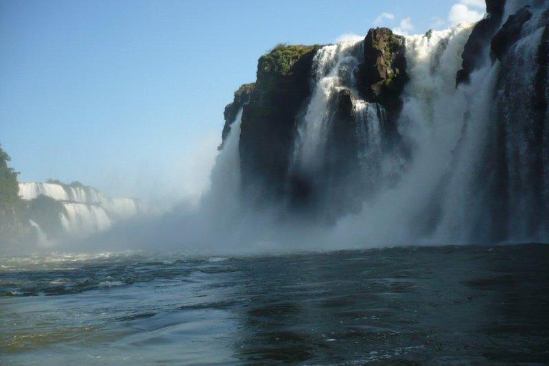 Waterfalls from below