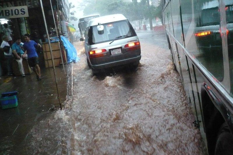 Rain road/river