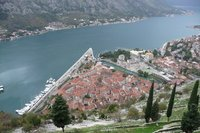 Kotor - view down on old town