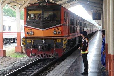 Train entering Chiang Mai Railway Station