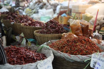 Chillies @ warorot market