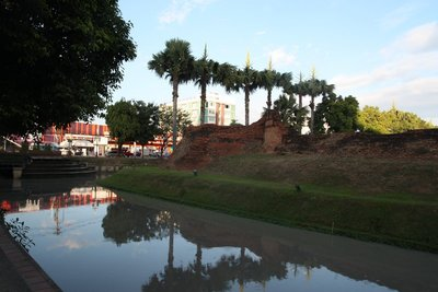 Moat and wall