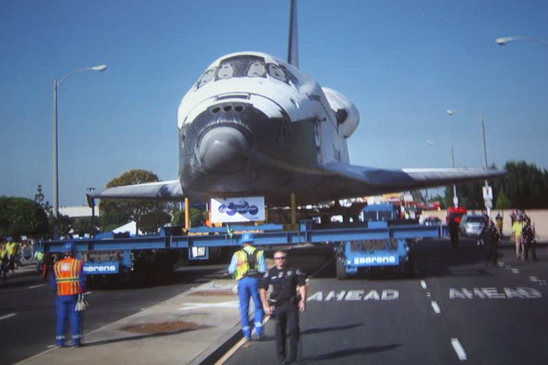Endeavour in transit