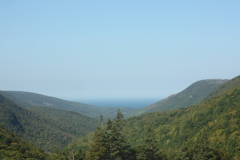 Cabot Trail, heading over pass to Pleasant Bay