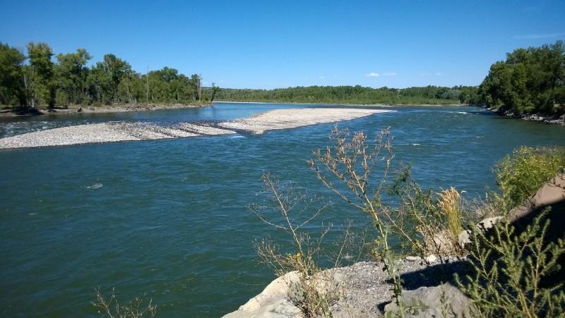 River near Columbus MT