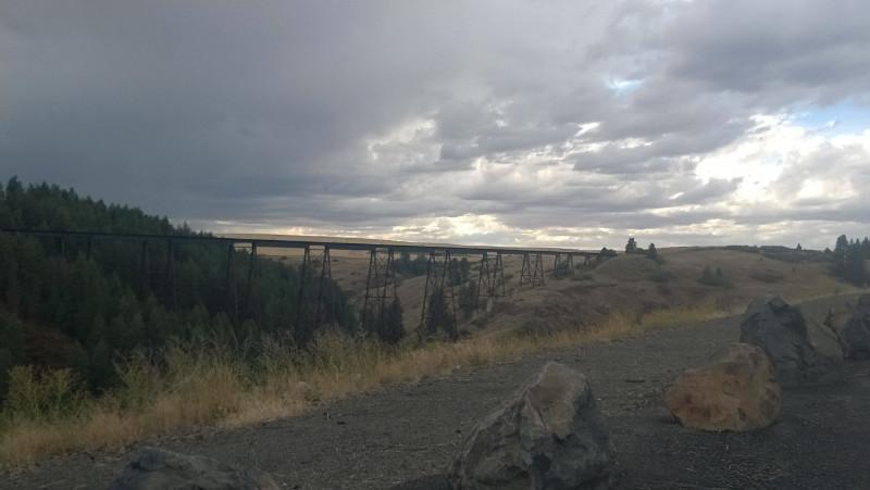 Camas Prairie Railroad Wooden Bridge